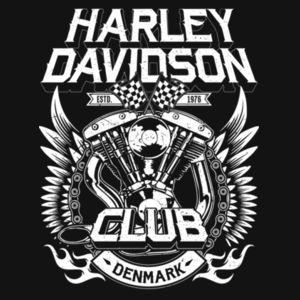 H-D Club Denmark No.2 (white) Design